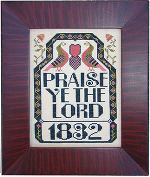 Carriage House Samplings - Praise Ye The Lord - Cross Stitch Pattern-Carriage House Samplings, Praise Ye The Lord, Cross Stitch Pattern