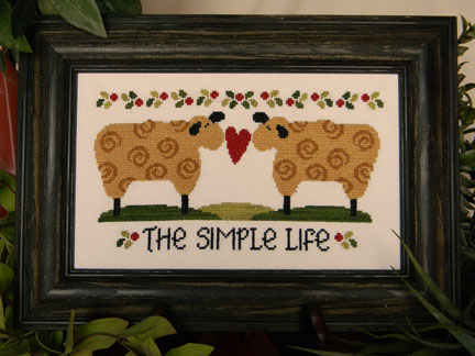 Cherry Hill Stitchery - The Simple Life-Cherry Hill Stitchery, The Simple Life, two sheep, Cross Stitch Pattern