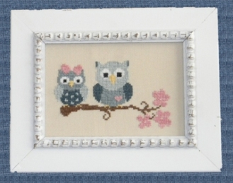 Cherry Hill Stitchery - Sweetheart Owls-Cherry Hill Stitchery, Sweetheart Owls, tree branch, owl lovers, Cross Stitch Pattern