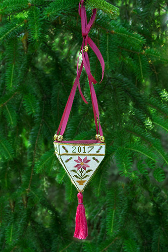 Cherished Stitches - Victorian Christmas Cone-Cherished Stitches - Victorian Christmas Cone, ornament, Christmas, Christmas tree,