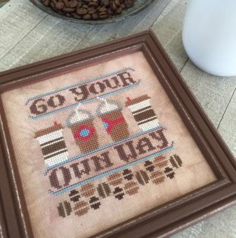Hands On Design - Cool Beans - Go Your Own Way-Hands On Design - Cool Beans - Go Your Own Way, coffee, to go, coffee cups, cross stitch