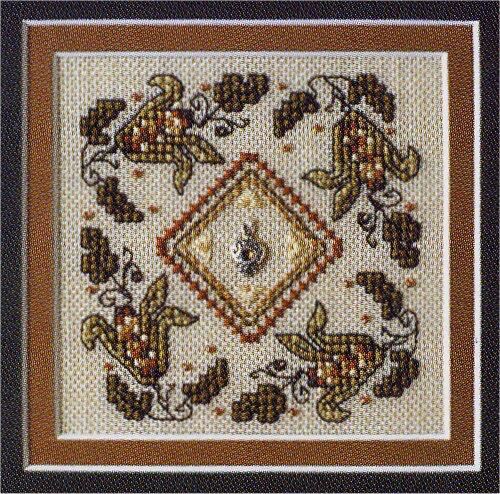 The Sweetheart Tree - Teenie Tweenie - Indian Corn - Cross Stitch Pattern-The Sweetheart Tree, Teenie Tweenie ~ Indian Corn w/ Charm, Cross Stitch Chart