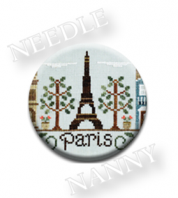 Stitch Dots - Country Cottage Needleworks - Afternoon in Paris Needle Nanny-Stitch Dots - Paris Needle Nanny by Country Cottage Needleworks, Paris, France,