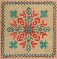 Cross-Point Designs - Southwestern Garden - Cross Stitch Pattern-Cross-Point Designs, Southwestern Garden, desert, flowers, quilt block,  Cross Stitch Pattern