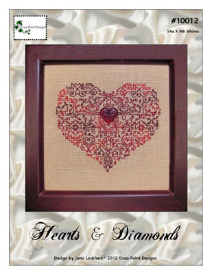 Cross-Point Designs - Hearts & Diamonds - Cross Stitch Pattern-Cross-Point Designs - Hearts & Diamonds - Cross Stitch Pattern