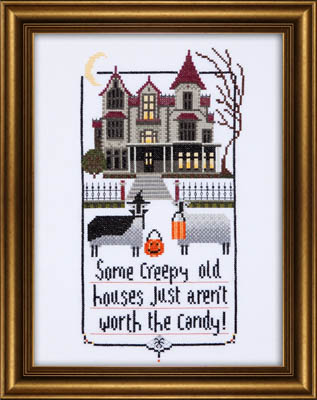 Kit & Bixby - Creep Sheep - Cross Stitch Pattern-Kit & Bixby, Creep Sheep, Halloween, Trick or treat, haunted house, children, Halloween costumes, Cross Stitch Pattern