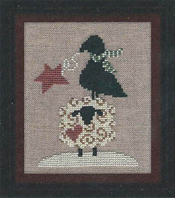Carousel Charts - Winter Sheep, Star and Crow - Cross Stitch Pattern