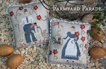 With Thy Needle & Thread - Farmyard Parade-With Thy Needle  Thread - Farmyard Parade, 4th of July, USA, patriotic, Americana, farm, animals, cross stitch