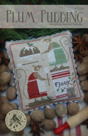 With Thy Needle & Thread - Plum Pudding-With Thy Needle  Thread - Plum Pudding, mice, baking, Christmas, cross stitch