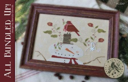 With Thy Needle & Thread - All Bundled Up-With Thy Needle  Thread - All Bundled Up, snowman, cardinal, Christmas, winter, cross stitch