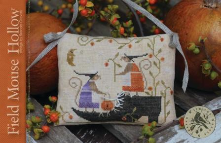 With Thy Needle & Thread - Field Mouse Hollow-With Thy Needle  Thread - Field Mouse Hollow, pumpkins, fields, autumn, fall, mice, cross stitch