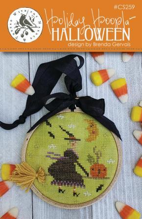 With Thy Needle & Thread - Holiday Hoopla - Halloween-With Thy Needle  Thread - Holiday Hoopla - Halloween, fall, pumpkins, witch, candy corn, cross stitch, witchs broom