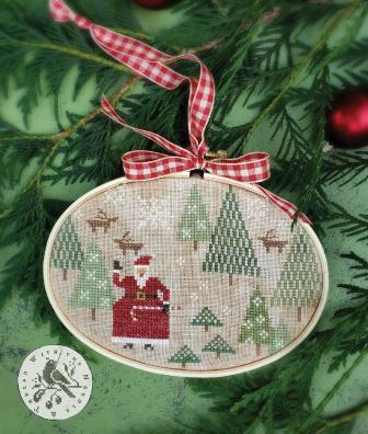 With Thy Needle & Thread - Santa's Tree Farm-With Thy Needle  Thread - Santas Tree Farm, Christmas, Santa Claus, Christmas trees, cross stitch
