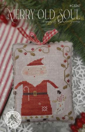 With Thy Needle & Thread - Merry Old Soul-With Thy Needle  Thread - Merry Old Soul, Santa Claus, ornament, Christmas tree, stockings, cross stitch