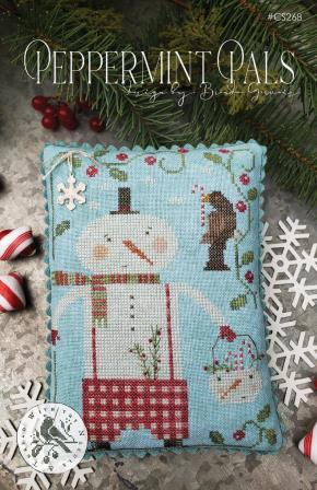 With Thy Needle & Thread - Peppermint Pals-With Thy Needle  Thread - Peppermint Pals, snowman, Christmas, snow, winter, ornaments, cross stitch