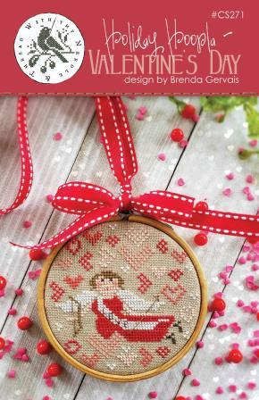 With Thy Needle & Thread - Holiday Hoopla - Valentine's Day-With Thy Needle  Thread - Holiday Hoopla - Valentines Day, cupid, angel, love, romance, cross stitch, arrow,