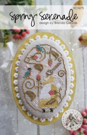 With Thy Needle & Thread - Spring Serenade-With Thy Needle  Thread - Spring Serenade, Easter, springtime, bunny, Easter eggs, flowers, cross stitch