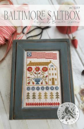 With Thy Needle & Thread - Baltimore Saltbox-With Thy Needle  Thread - Baltimore Saltbox, houses, Maryland, cross stitch