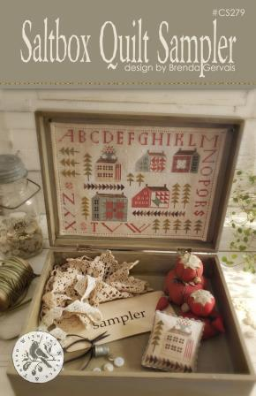 With Thy Needle & Thread - Saltbox Quilt Sampler-With Thy Needle  Thread - Saltbox Quilt Sampler, sewing box, notions, tools, scissors, wood box, buttons, quilts,  cross stitch