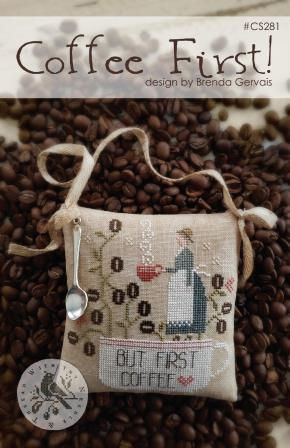 With Thy Needle & Thread - Coffee First!-With Thy Needle  Thread - Coffee First, coffee beans, morning brew, Java, coffee cup, cross stitch
