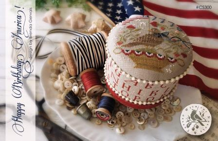 With Thy Needle & Thread - Happy Birthday America!-With Thy Needle  Thread - Happy Birthday America, patriotic, USA, American flag, cross stitch