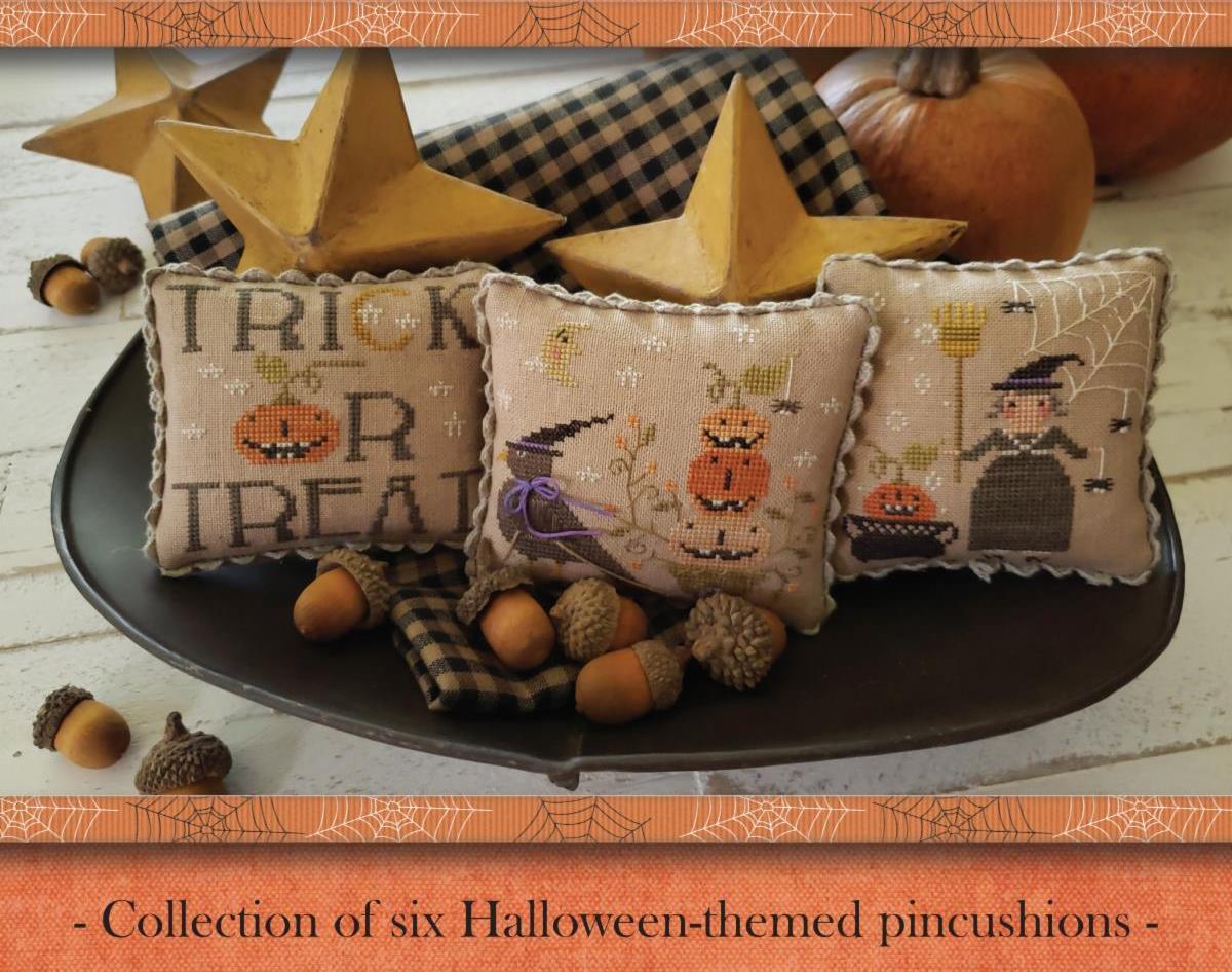 With Thy Needle & Thread - Jack O Lantern Jubilee Booklet-With Thy Needle  Thread - Jack O Lantern Jubilee Booklet, Halloween, fall, pumpkins, black cats,