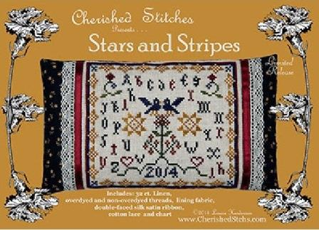 Cherished Stitches - Stars and Stripes - Cross Stitch Kit-Cherished Stitches, Stars and Stripes, July 4th, patriotic, USA, sampler, Cross Stitch Kit