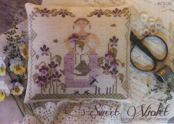 With Thy Needle & Thread - Sweet Violet - Cross Stitch Chart