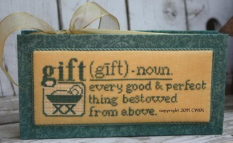 CherryWood Design Studios -Dictionary Celebration Series  1 - Gift-CherryWood Design Studios - Gift - Cross Stitch Pattern