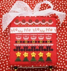 Cherrywood Design Studios - Ho Ho Ho - With Ribbons & Buttons-Cherrywood Design Studios - Ho Ho Ho - With Ribbons  Buttons - Cross Stitch Pattern