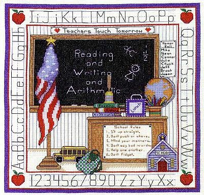 Bobbie G. Designs - School Days-Bobbie G. Designs  School Days,   Cross Stitch Pattern