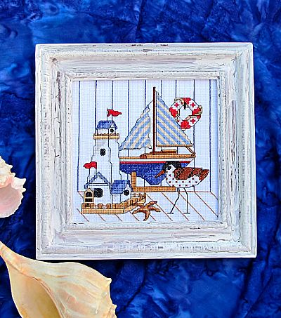 Bobbie G. Designs - Near the Sea - Cross Stitch Pattern-Bobbie G. Designs - Near the Sea - Cross Stitch Pattern