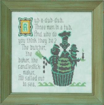 Glendon Place - Rub-A-Dub-Dub-Glendon Place, Rub-A-Dub-Dub, nursery rhymes, childrens books, cross stitch