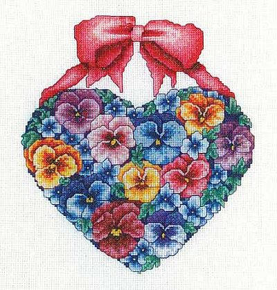 Bobbie G. Designs - Pansy Love - Cross Stitch Pattern