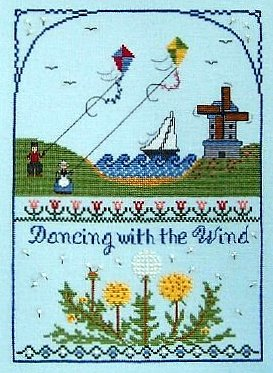 The Needle's Notion - Dancing with the Wind - Cross Stitch Pattern-The Needles Notion Dancing with the Wind
