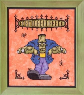 Glendon Place - Formidable Frank-Glendon Place - Formidable Frank, Halloween, Frankenstein, cross stitch
