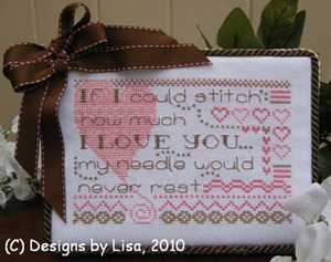 Designs by Lisa - No Rest for my Needle - Cross Stitch Chart