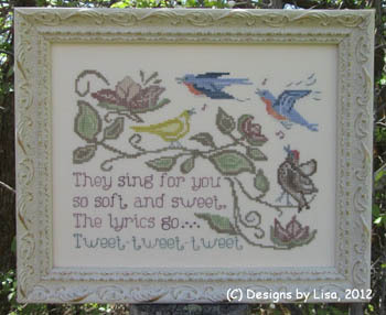 Designs by Lisa - They Sing for You - Cross Stitch Chart