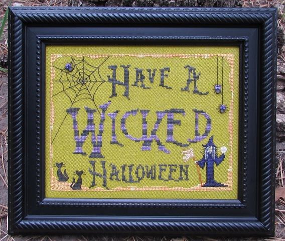 Designs by Lisa - Have a Wicked Halloween - Cross Stitch Pattern