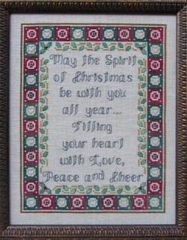 Designs by Lisa - The Spirit of Christmas - Cross Stitch Pattern-Designs by Lisa, The Spirit of Christmas, Christmas sayings, Christmas sampler, religious sayings,  Cross Stitch Pattern