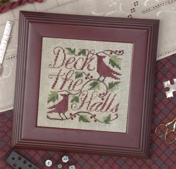 The Drawn Thread - Deck the Halls-The Drawn Thread - Deck the Halls, Christmas, cardinal, cross stitch