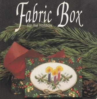 Designs for the Needle - Candles - Cross Stitch Fabric Box Kit-Designs for the Needle, Candles,Christmas candles, holly, Christmas box, blue, red, pink candles,  Cross Stitch Fabric Box Kit
