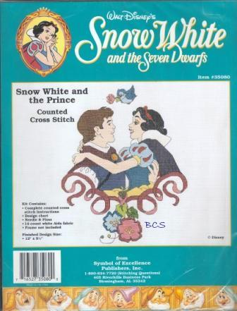 Disney - Snow White and the Seven Dwarfs - Snow White and the Prince - Cross Stitch Kit-Disney, Snow White and the Seven Dwarfs,  Snow White and the Prince, Cross Stitch Kit
