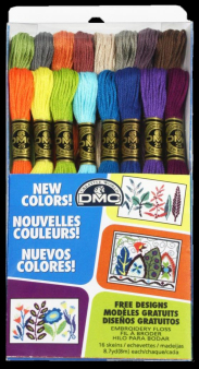 DMC - 16 New Floss Colors - Floss Assortment Package-DMC, 16 New Floss Colors, Floss Assortment Package,cross stitch, needlework threads,