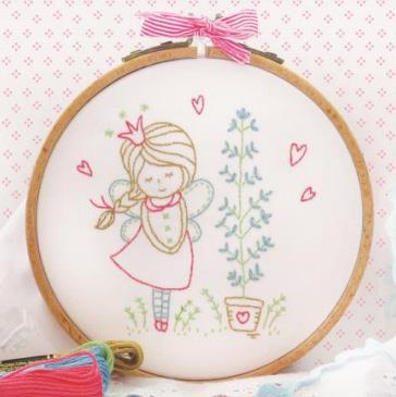DMC - Tamar - Shy Fairy - Embroidery Kit-DMC - Tamar - Shy Fairy - Embroidery Kit, fairies, bashful, imp, specialty stitches,