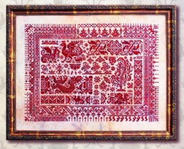 Ink Circles - Dragons of Sumatra-Ink Circles - Dragons of Sumatra, geometrical, red,dragons, cross stitch