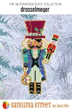 Satsuma Street - Nutcracker Suite - Drosselmeyer Ornament Kit-Satsuma Street - Nutcracker Suite - Drosselmeyer Ornament Kit, Christmas, play, soldier, cross stitch