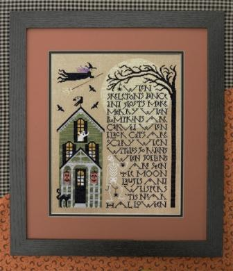 The Drawn Thread - When Skeletons Dance - Cross Stitch Pattern-The Drawn Thread, When Skeletons Dance, Halloween, haunted house, witch, ghost, sampler - Cross Stitch Pattern