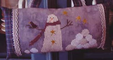 Thistles - Snowballs-Thistles - Snowballs, snowman, winter, pin cushion, cross stitch