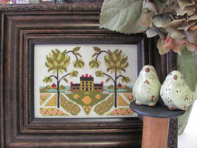 By The Bay Needleart - Early American Garden -By The Bay Needleart - Early American Garden Cross Stitch Pattern